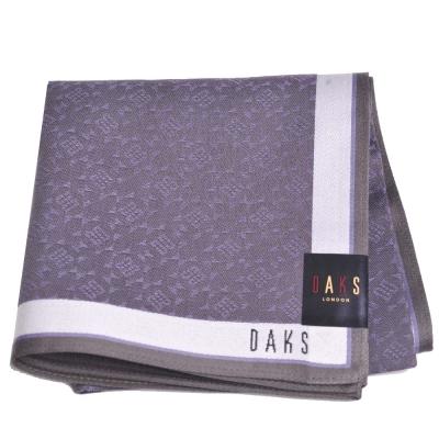 DAKS 圖騰品牌字母LOGO帕領巾(灰色系)