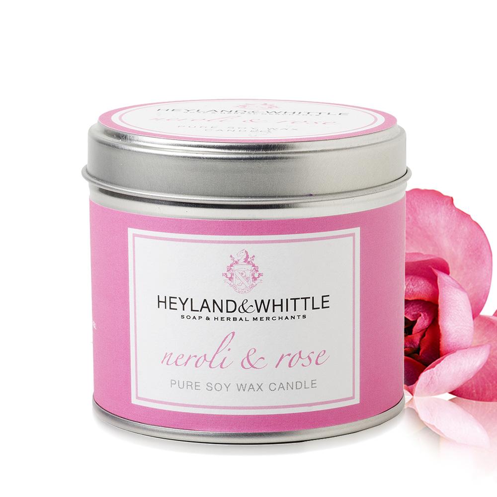 H&W英倫薇朵 橙花玫瑰香氛燭罐 180g