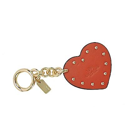 COACH 紅色心型鑲嵌鑰匙圈(紅)(禮盒組)