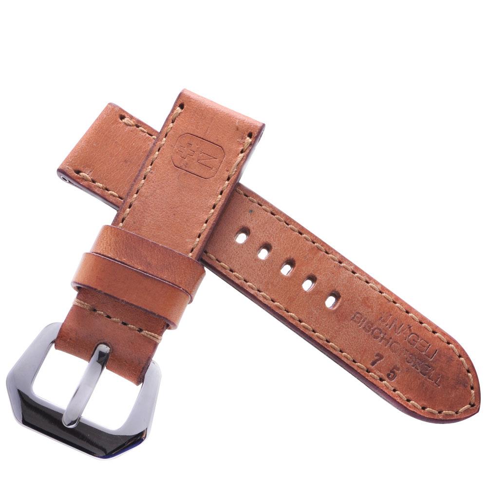 TED SU 太和錶帶 五星上將Panerai 沛納海代用帶卡其牛皮金色線-24*24mm