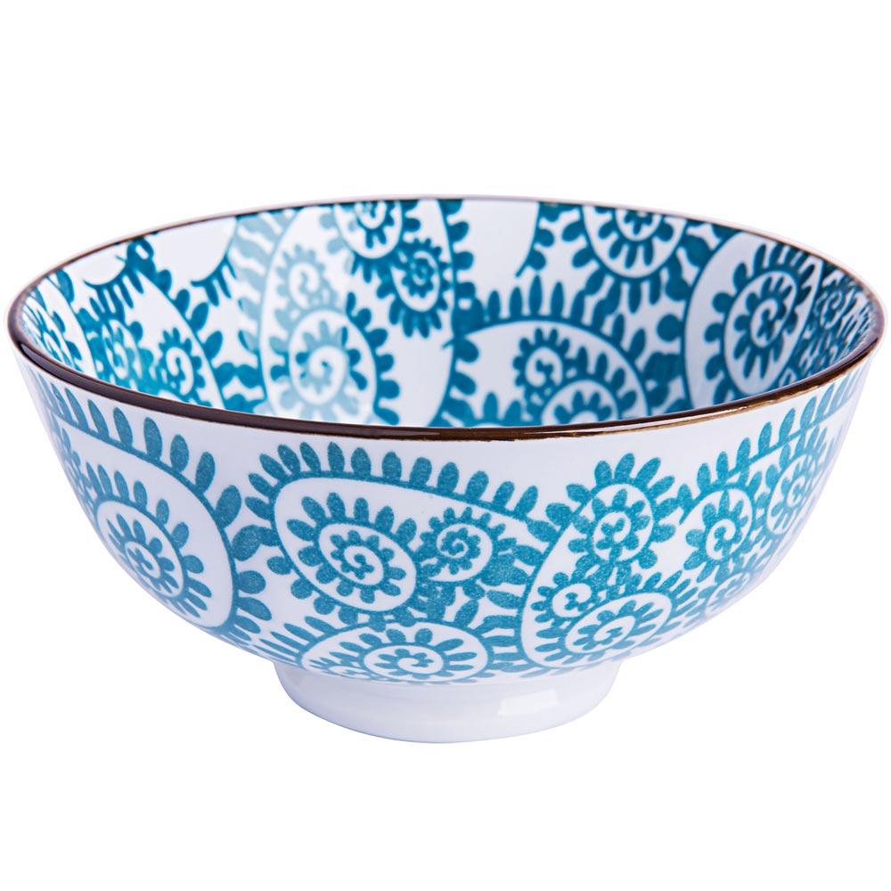 EXCELSA Oriented瓷餐碗(藤蔓藍12cm)