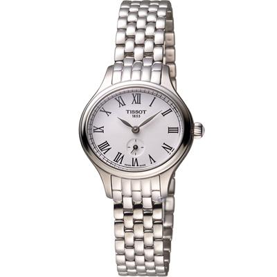 TISSOT天梭 Bella Ora 羅馬時光時尚腕錶-白/28x24mm