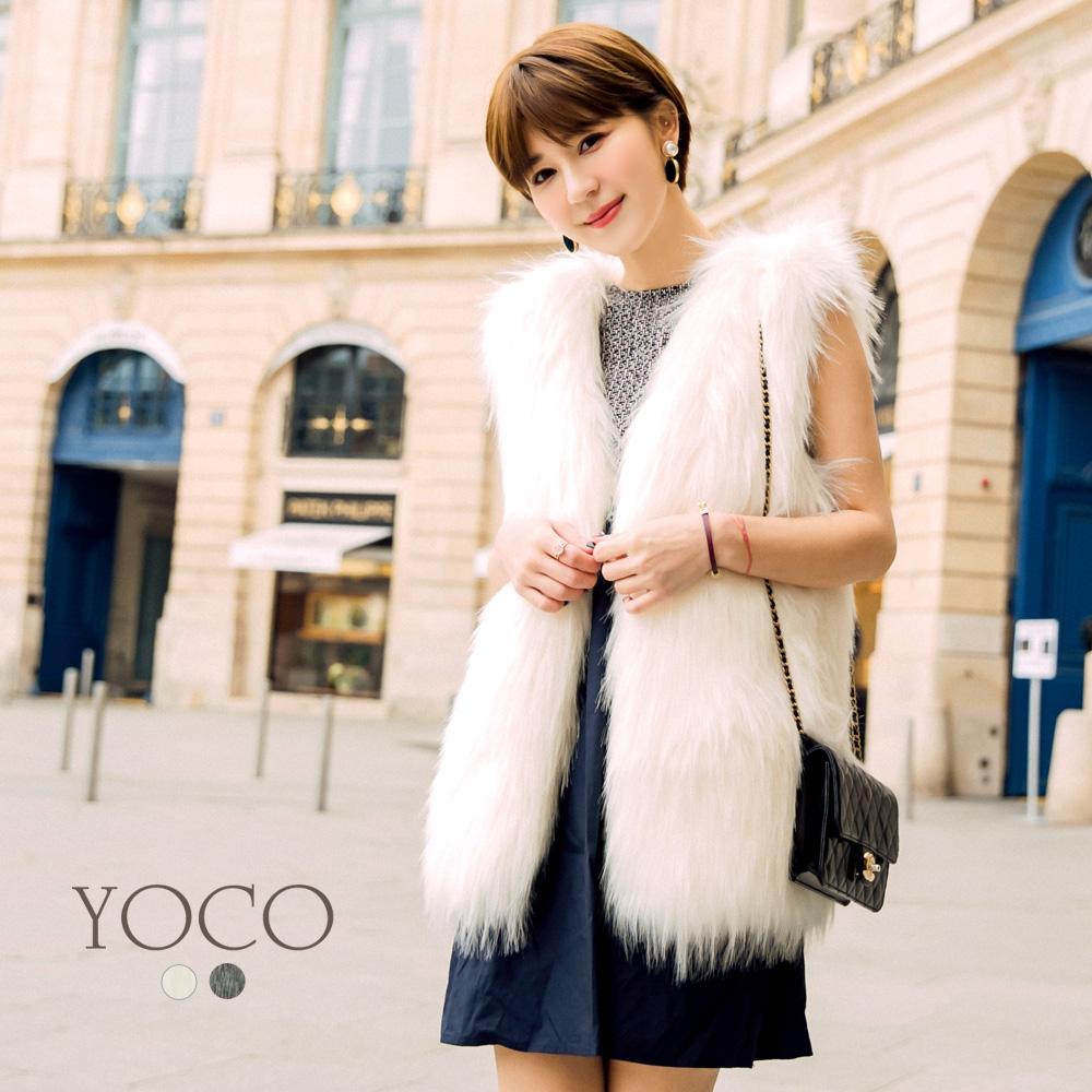 東京著衣-yoco安琪聯名法式名媛質感仿皮草背心共二色