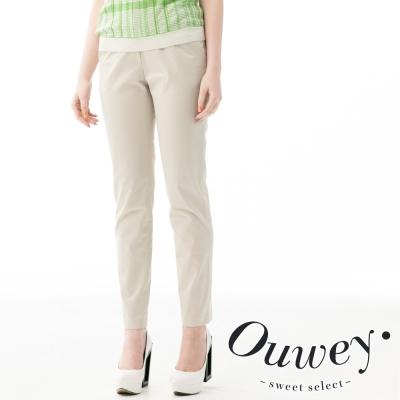 OUWEY歐薇-棉質彈性直筒長褲-共3色