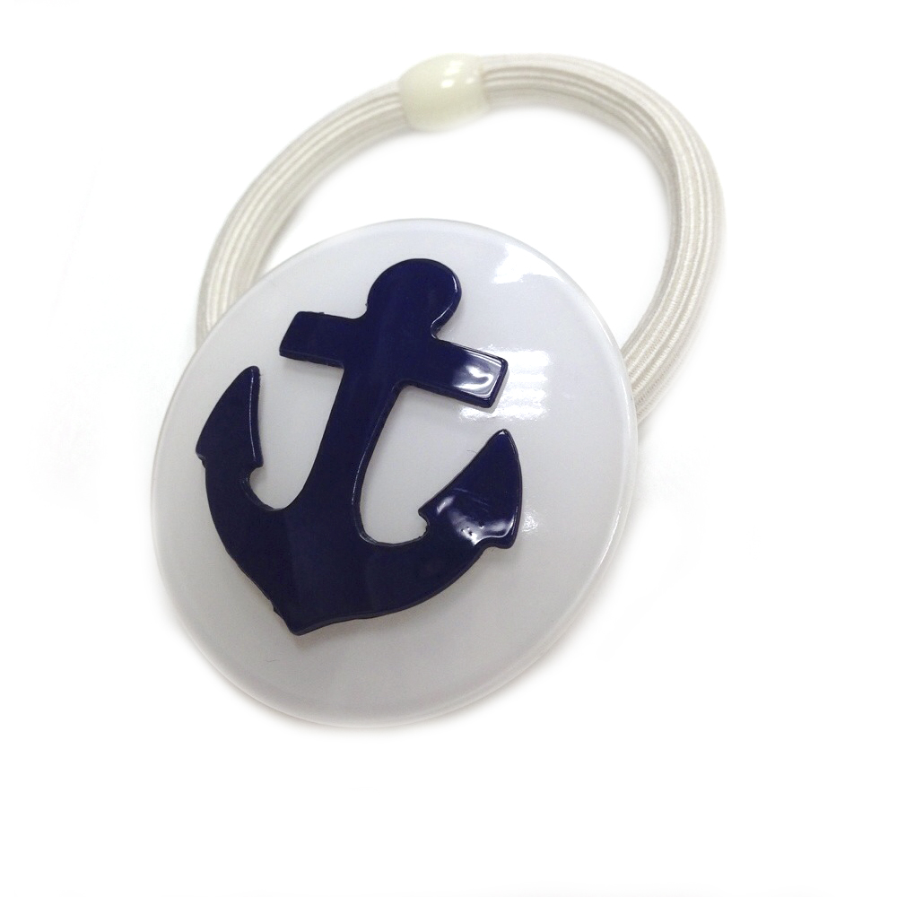 Anna Lou Of London倫敦品牌 Anchor 船錨伸縮髮帶 海軍藍