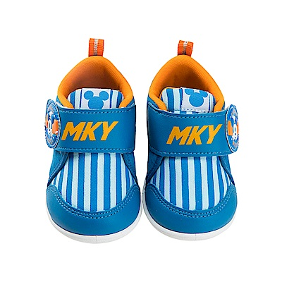 迪士尼童鞋 米奇 條紋學步鞋-藍