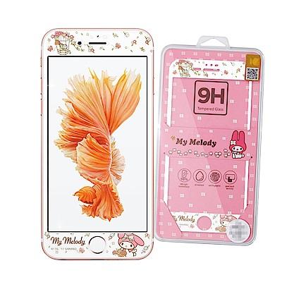 三麗鷗 iPhone 8 / 7 /6s Plus微閃粉玻璃保護貼(春遊美樂蒂)...