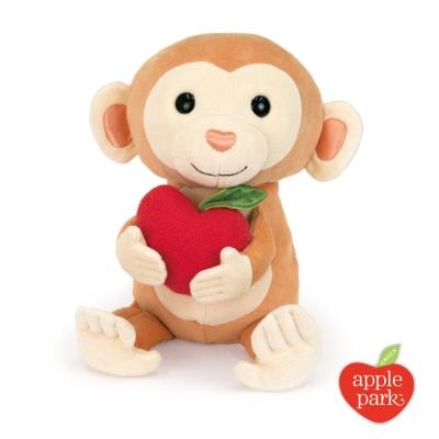 【美國 Apple Park】有機棉玩偶彌月禮盒 - 蘋果小猴