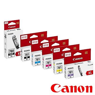 Canon PGI-780XL-BK+CLI-781XL-BK/C/M/Y/PB 墨水組合