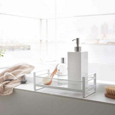 YAMAZAKI MIST瓶罐小物收納單層架-白★收納架/衛浴/雜物/萬用收納
