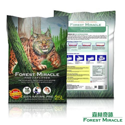 ForestMiracle 森林奇跡 天然環保 崩解型 松木砂 貓砂 25L