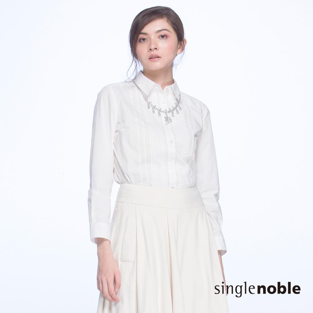 獨身貴族 清新俐落立體壓褶線條襯衫(1色)
