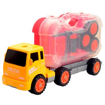 Construction Vehicles 可拆式提把工具組拖板卡車模型