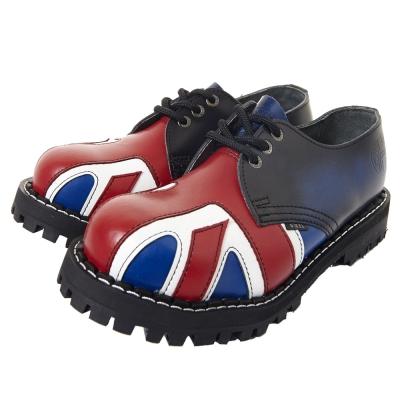 STEEL BOOTS歐洲經典3孔鐵頭鞋-英國國旗