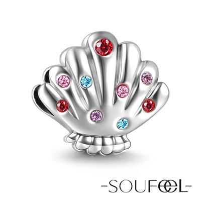 SOUFEEL索菲爾 925純銀珠飾 珍珠貝殼 串珠