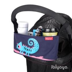 IBIYAYA依比呀呀-嬰兒/寵物推車專用-多用途置物吊袋-變色龍