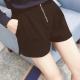 中大尺碼毛料後緊鬆緊腰打摺拉鍊短褲L~4L-Ballet Dolly product thumbnail 1