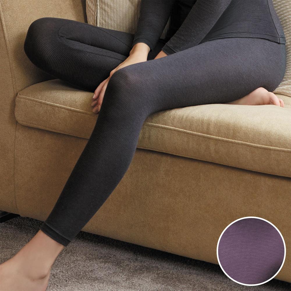 華歌爾 EKS 美肌發熱衣M-LL 九分長內搭褲(性感紫)