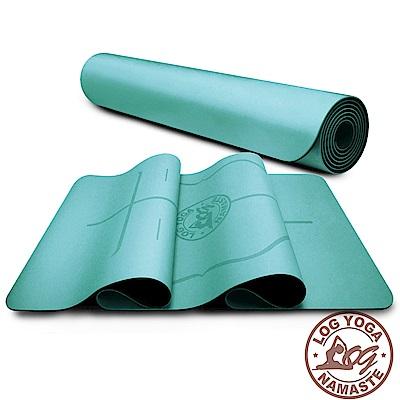 LOG YOGA 樂格 PU環保天然橡膠 專業款瑜珈墊 -藍色 (厚度5mm)