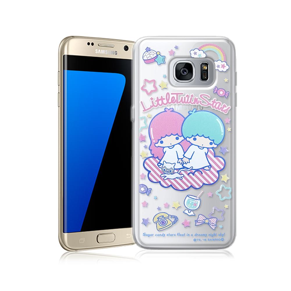三麗鷗正版雙子星三星Galaxy S7 edge透明軟式保護殼休閒