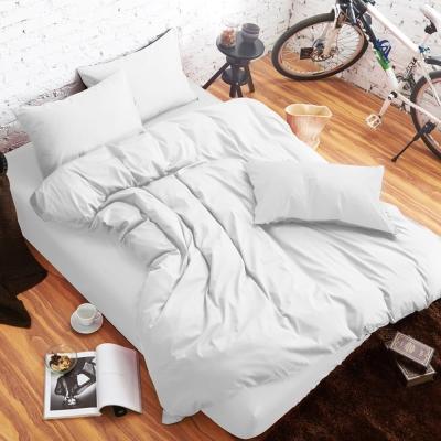 舒柔 精梳棉 二件式枕套床包組 單人 雪白 提案