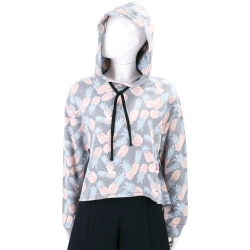 Juicy Couture 灰色鳳梨印花棉質連帽運動衫