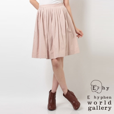 E-hyphen-收腰折線中長裙