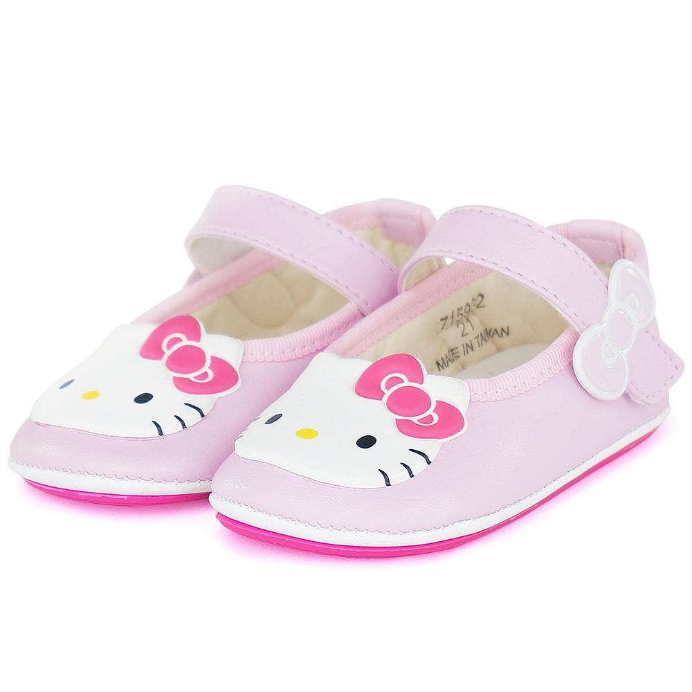 Hello Kitty專櫃精品超纖輕量舒適透氣皮防滑寶寶童鞋-粉