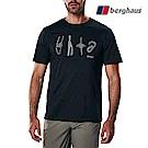 【Berghaus貝豪斯】男款登山鈎印花圓領T恤S04M17-黑