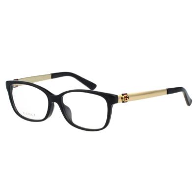 GUCCI-紅綠系列 光學眼鏡(黑色)