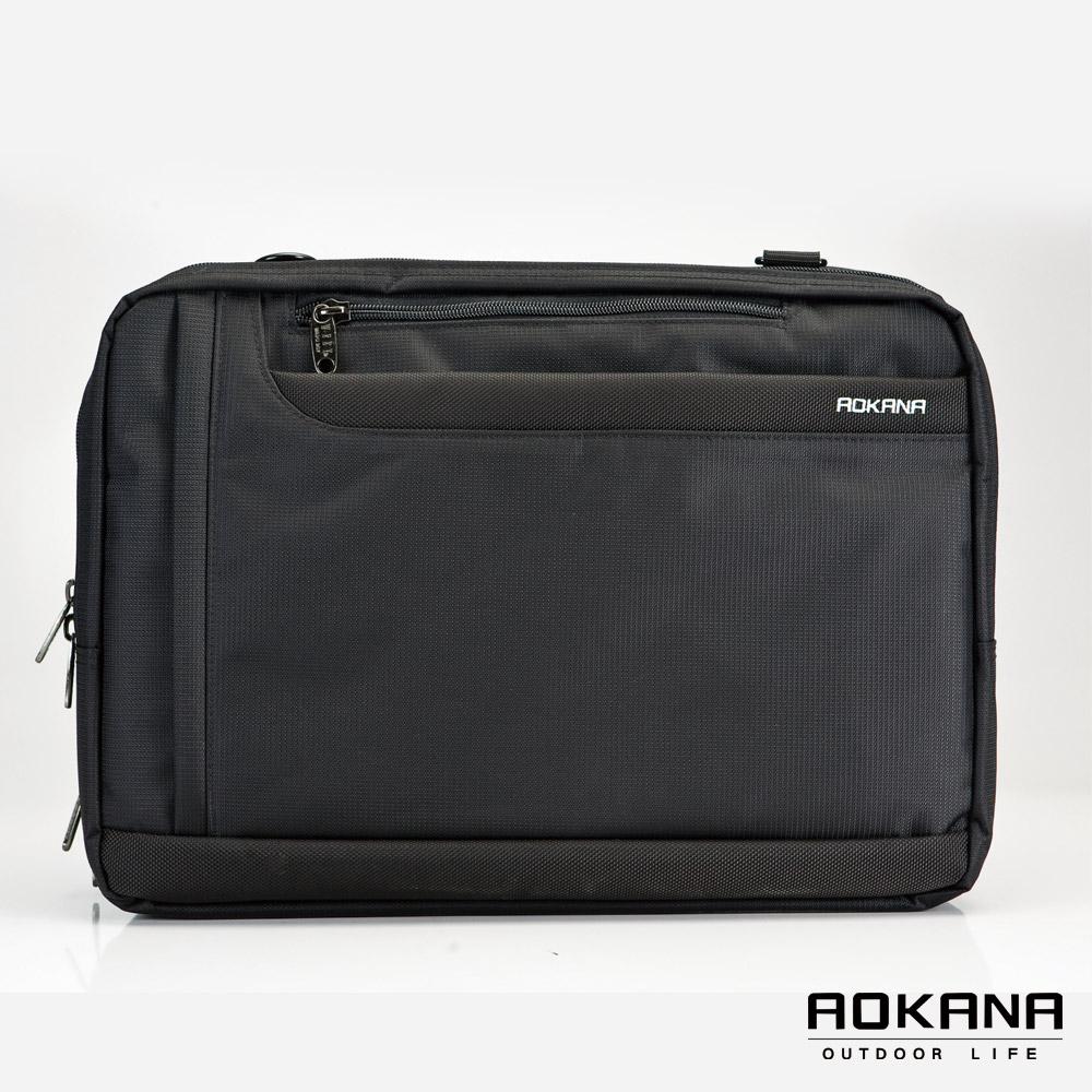 AOKANA奧卡納 - MIT 防潑水多隔層三用電腦公事後背包02-008- 黑
