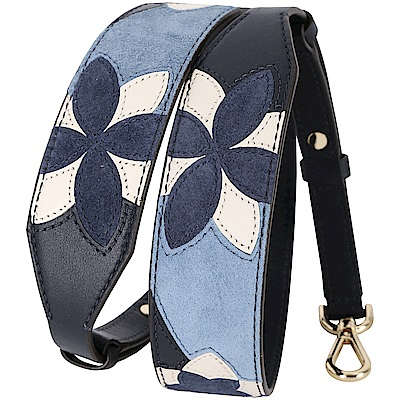 Michael Kors Floral Strap 幾何拼接花朵肩背帶(深藍色)
