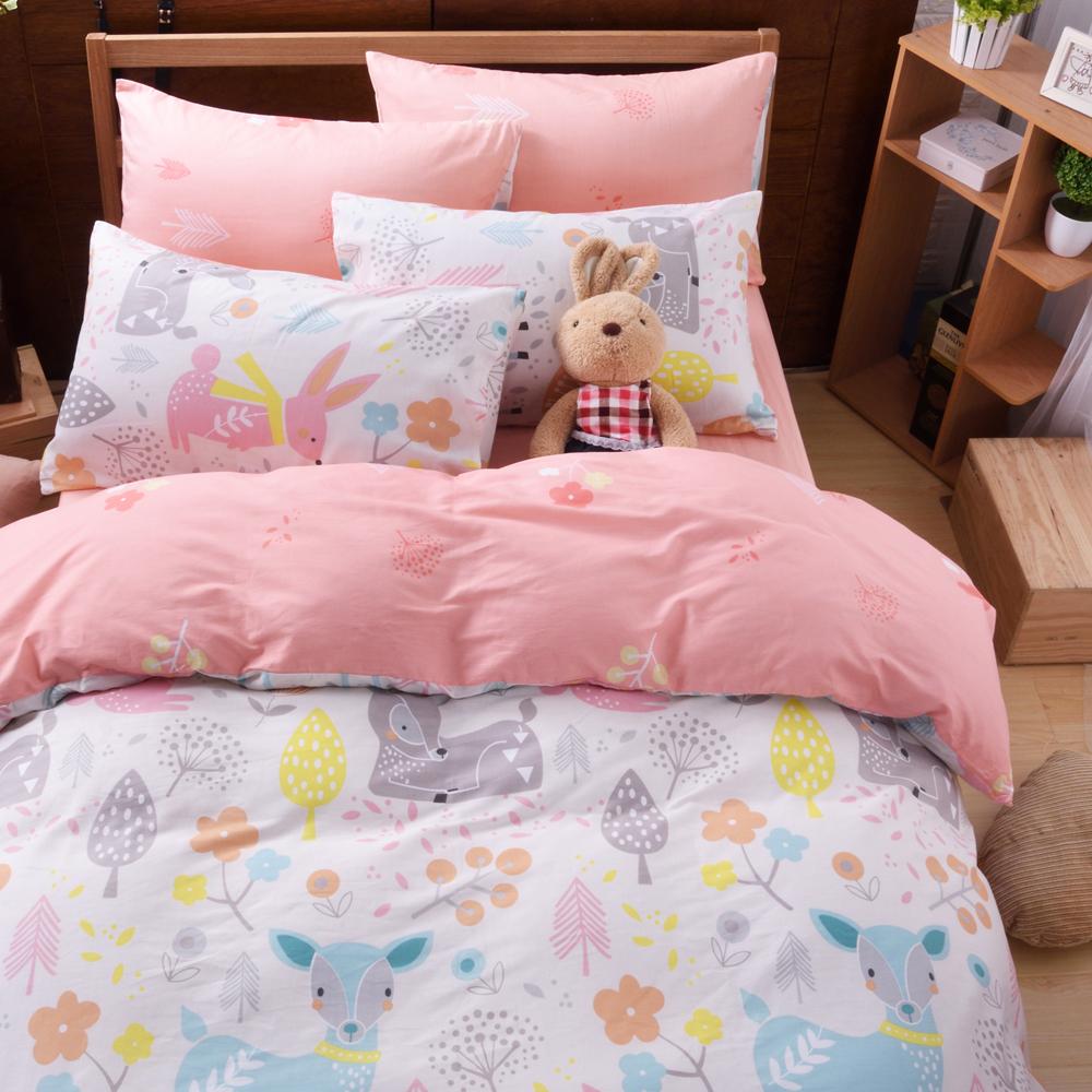 織眠坊-森林 文青風單人三件式特級100%純棉床包被套組