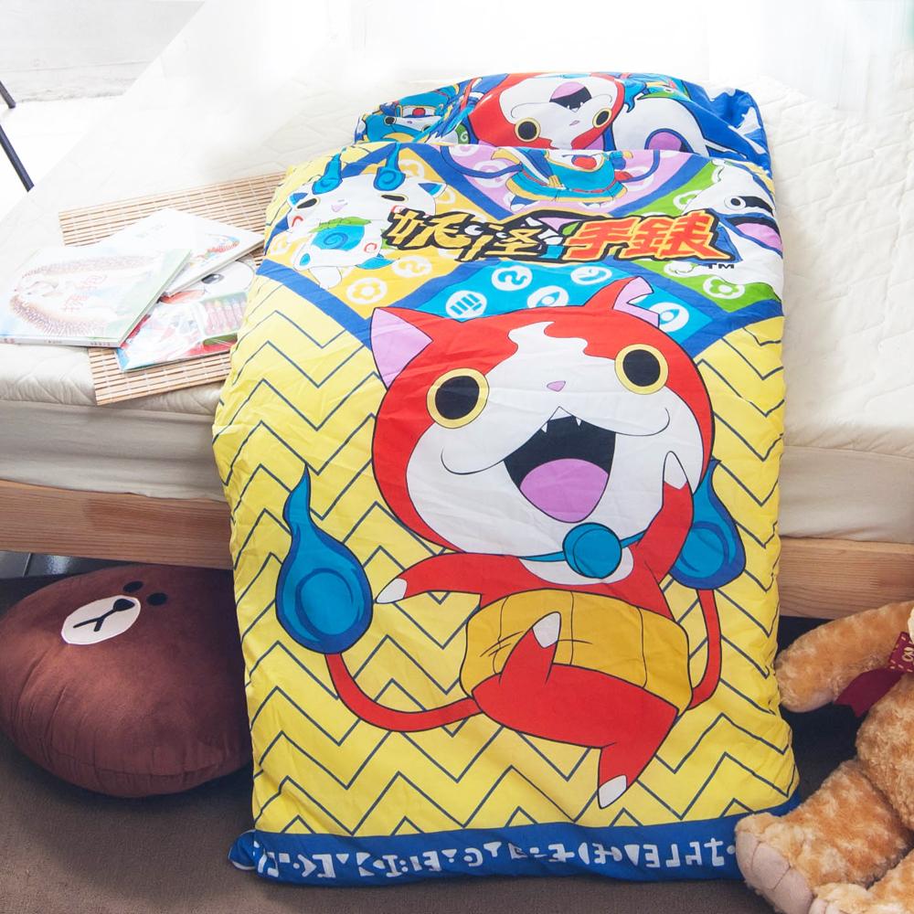 妖怪手錶-深藍 台灣精製兒童睡袋