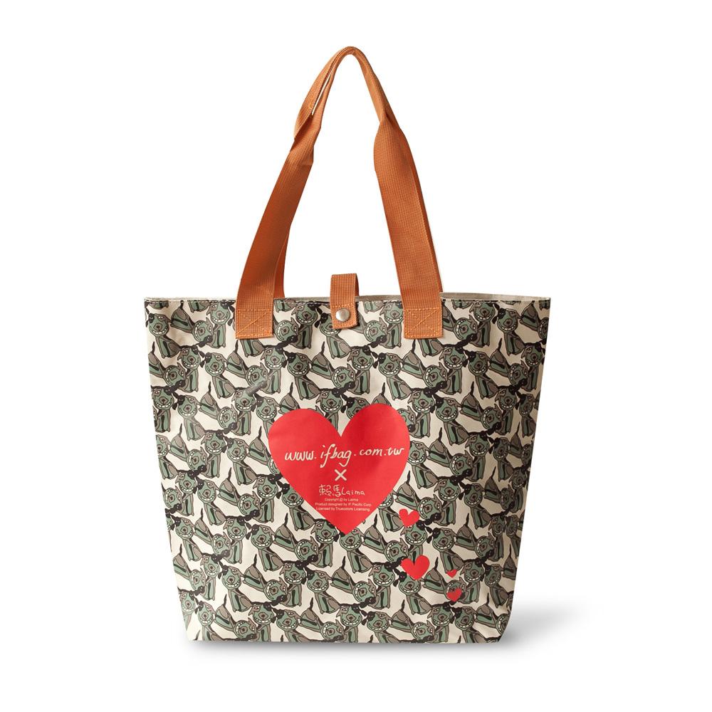 【IF飛樂】愛心滿滿狗幫包.購物袋