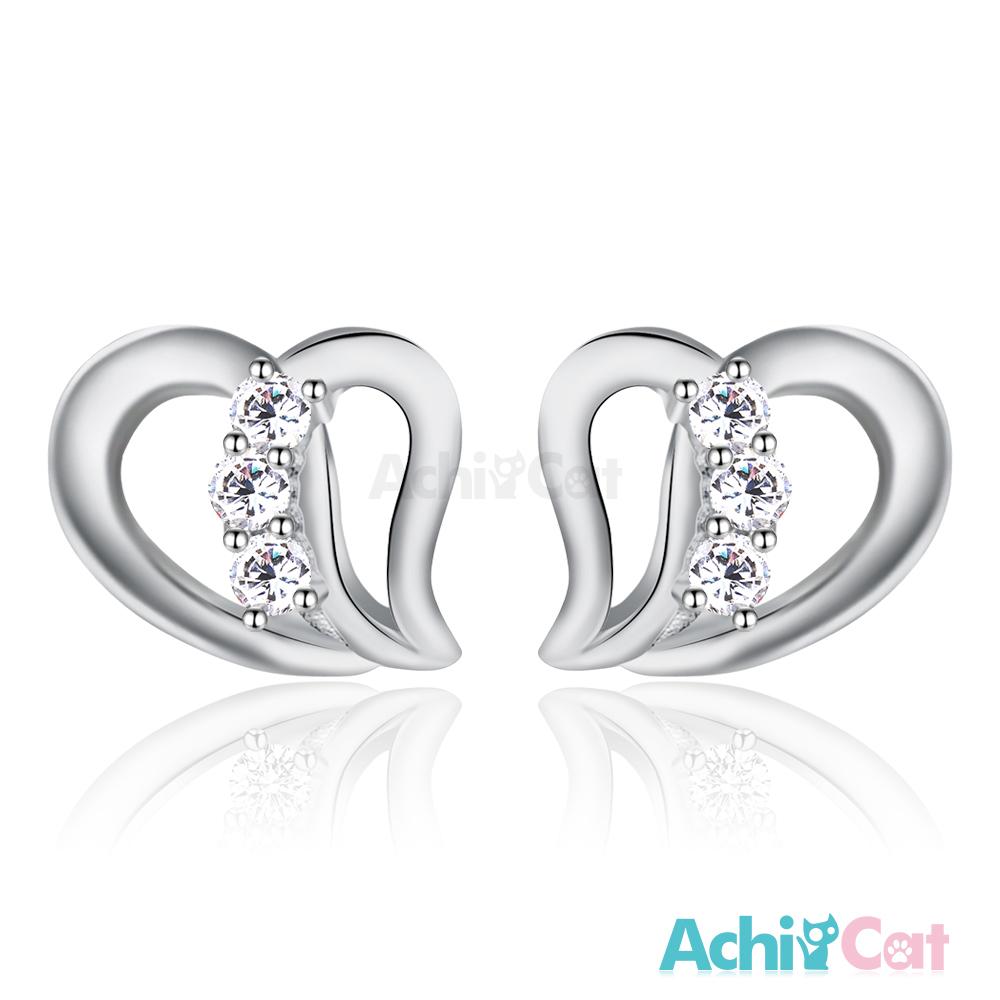 AchiCat 925純銀耳環 訴說心語 純銀耳針