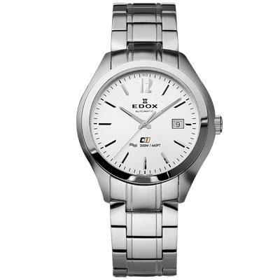 EDOX Class-1 紳士自動上鍊機械錶-銀/42mm