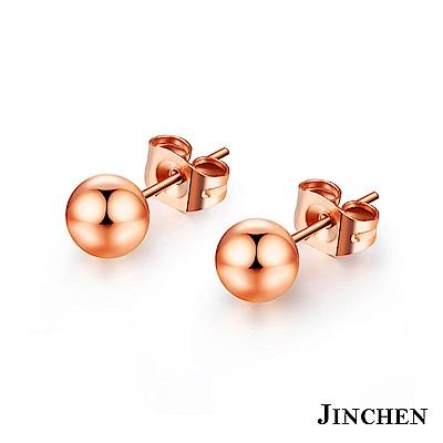 JINCHEN 白鋼小圓珠耳環