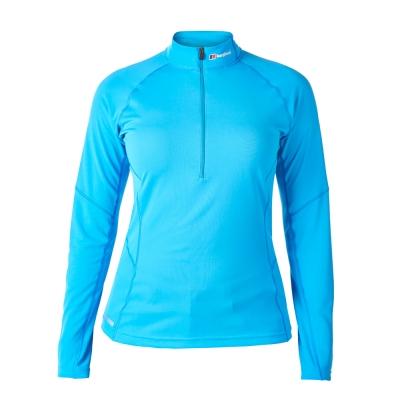 【Berghaus 貝豪斯】女款銀離子除臭抗菌抗UV長袖上衣S15F21水藍