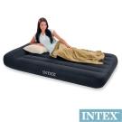 INTEX 舒適型-單人加大植絨充氣床墊(寬99cm)-有頭枕 (66767)