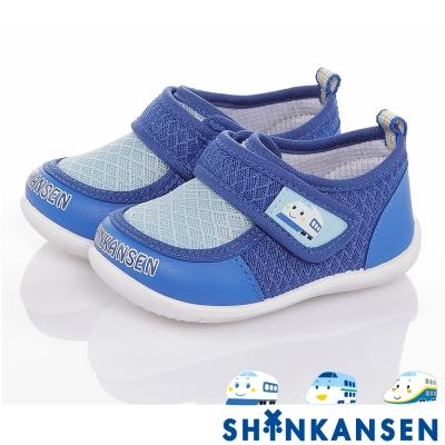 ShinKanSen新幹線 輕量透氣抗菌防臭減壓休閒童鞋 藍