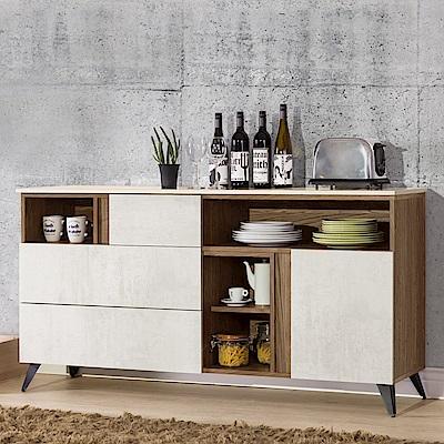 Homelike 米卡5.3尺餐櫃(含石面)-160x41x84cm