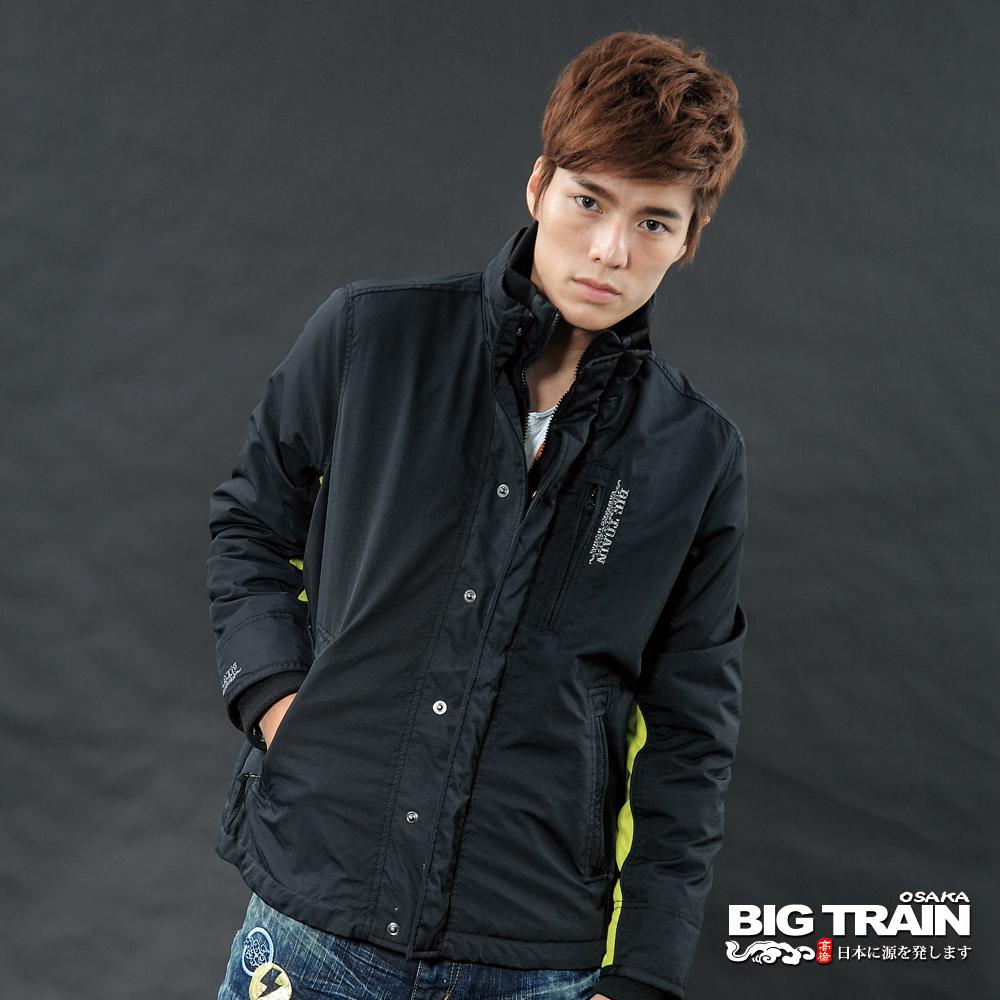 BIG TRAIN 男款保防風配色外套-黑