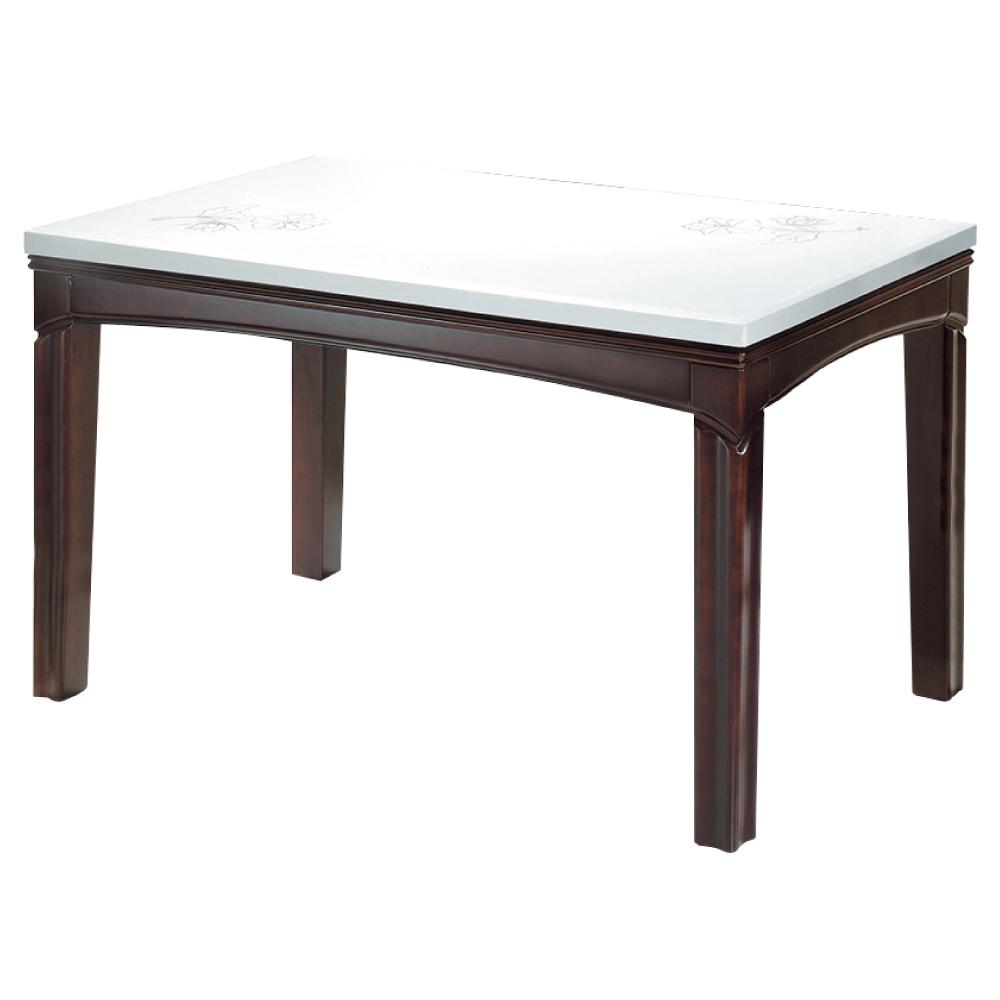 品家居 米修4.5尺石面餐桌-135x80x74cm-免組