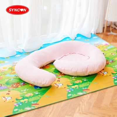 【SYNCON 欣康】 哺乳好孕月亮枕(粉紅)