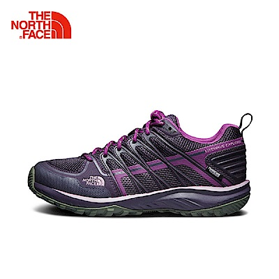 The North Face北面女款紫色防水抓地透氣徒步鞋