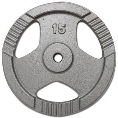 15KG手抓孔槓片 (銀 / 黑雙色,隨機出貨)