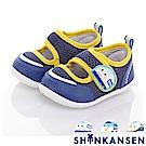 新幹線 輕量透氣抗菌防臭學步童鞋-可室內-藍