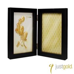 鎮金店Just Gold 擺件-浪漫時刻金箔木框相框