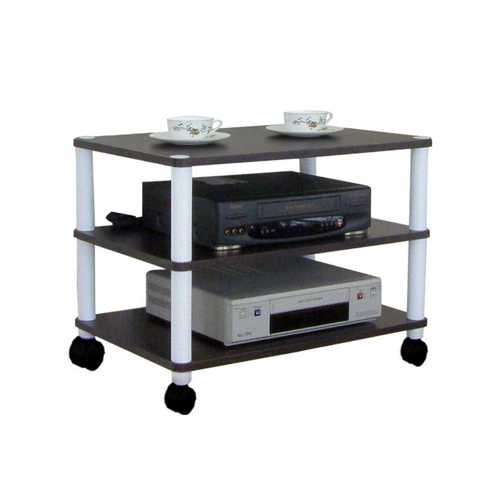 Dr. DIY 寬60公分-三層置物架/電器架(三色可選)-兩款腳座